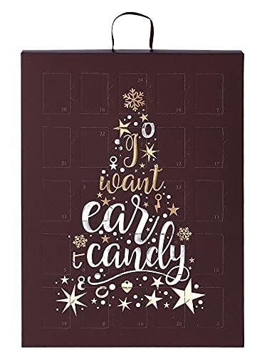 SIX Schmuck-Adventskalender für Frauen mit I Want Ear Candy Schriftzug und 24 raffinierten...