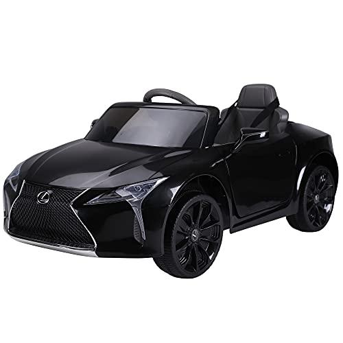 HOMCOM Kinderauto Kinderfahrzeug das offiziell lizenzierte Aufsitz-Lexus LC500 für 3-6 Jahre Elektroauto...