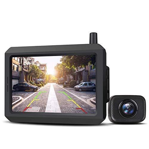 "AUTO-VOX W7 5"" LCD Kabellos Digital Rückfahrkamera Set, mit eingebautem Funksender, Wireless..."