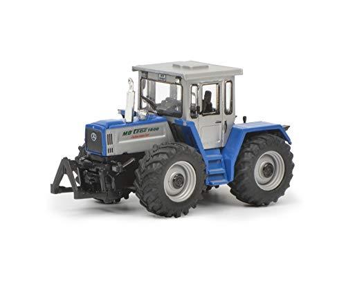 Schuco 452641700 452641700-Mercedes Benz trac 1800, Traktor, Modellauto, 1:87, blau/Silber Modellfahrzeug
