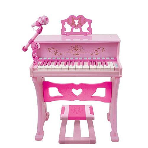 AAFF Kinderpiano Piano Kinder Klavier, Elektronische Mikrofon Füße Und Hocker 37 Tasten, Lernspielzeug...