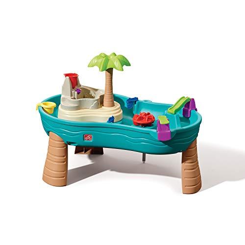 Step2 Splish Splash Wasserspieltisch Jungle | Großer Wassertisch mit 10-teiligem Zubehörset | Garten...