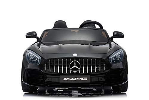 ES-TOYS Kinderfahrzeug - Elektro Auto Mercedes GT R Doppelsitzer - lizenziert - 12V10AH, 2 Motoren-...