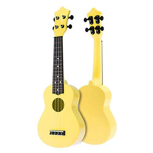 E-Gitarre, 21-Zoll-Bunte Acoustic Ukulele 4-Saiter Hawaii-Gitarre, Kinder und Musik, Multi-Color...