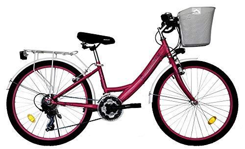 T 24 Zoll Kinder Mädchen Damen City Fahrrad Damenfahrrad Cityfahrrad Citybike Mädchenfahrrad Bike Rad...