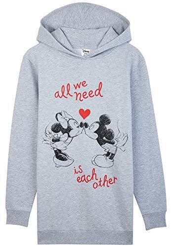 Disney Oversize Pullover Damen, Hoodie Damen und Teenager Mädchen, Hoodie Kleid Minnie und Mickey Mouse,...