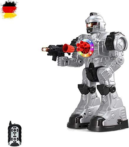 HSP Himoto Neuheit RC Ferngesteuerter Kampf Roboter mit Tanz- und Schussfunktion, Sound- und...