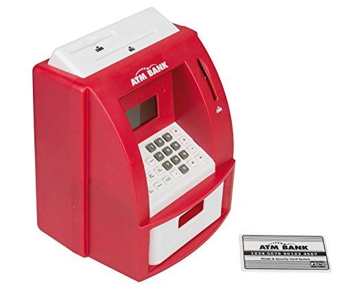 Idena 50021 - Digitale Spardose, Geldautomat mit Sound, PIN geschützter Bankkarte, Münzzähler und...