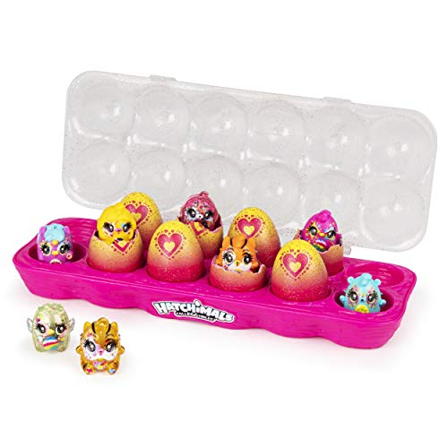 Hatchimals CollEGGtibles, Limmy Edish Glamfetti 12-Pack Egg Carton with 12 Exclusive Hatchimals (Styles...