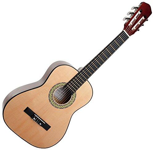 Classic Cantabile AS-851 1/2 Konzertgitarre Natur (Akustikgitarre, geeignet für Kinder im Alter von 6-8...