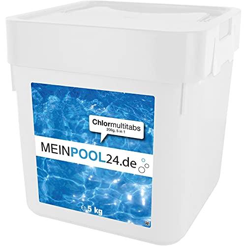 MEINPOOL24.DE 5 kg Chlor Multitabs 5 in 1-200 g Tabs Multi Chlortabletten - mit 5 Phasenwirkung für die...