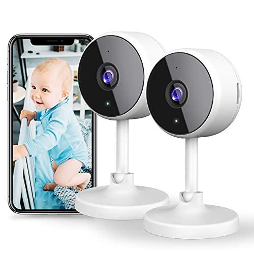 little elf 1080P Überwachungskamera Innen, WLAN IP Kamera, WiFi Kamera Babyphone mit Nachtsicht,...
