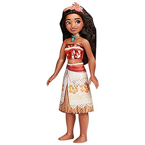Disney Prinzessin Schimmerglanz Vaiana Puppe, Kleidung und Accessoires, Spielzeug für Kinder ab 3 Jahren