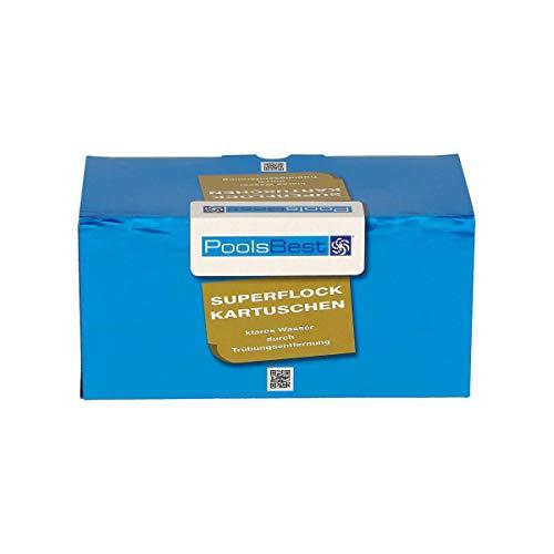 POOLSBEST® 1 kg Superflock Kartuschen 8 x 125 g für Dauerflockung - Flockungskartusche für...
