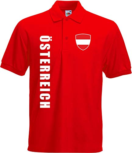 aprom - Österreich Kinder Polo T-Shirt Trikot Fußball SPA AUS (152)