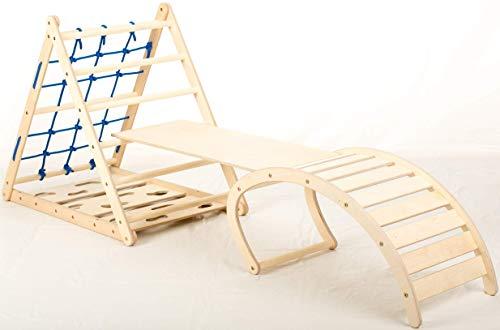 Affenling Set – dreiseitiges Kletterdreieck mit Rutsche & Wippe