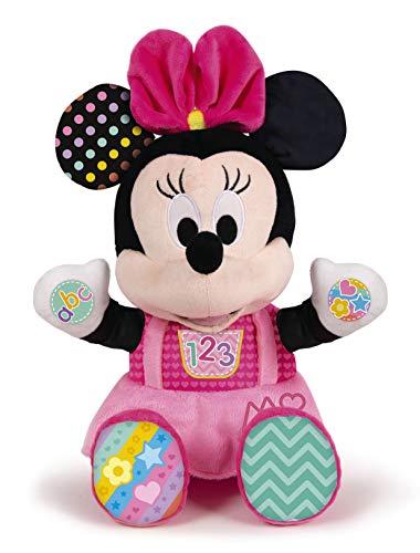 Clementoni 59134 Disney Baby – Minnie Kuscheln und Lernen, Motorikspielzeug aus Plüsch für...