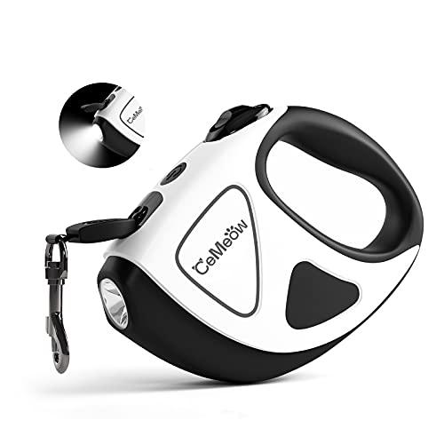 CeMeow Hunde Hundeleine Ausziehbar 5M Hundeleinen mit Taschenlampe, EIN Knopf für Bremse und Lock...