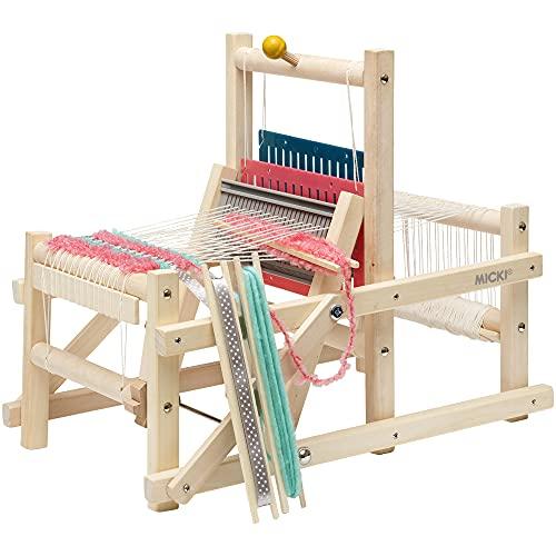 MICKI Webstuhl – DIY Set für Erwachsene – Strick Starter-Set für Kinder – Holzgarnspielzeug für...