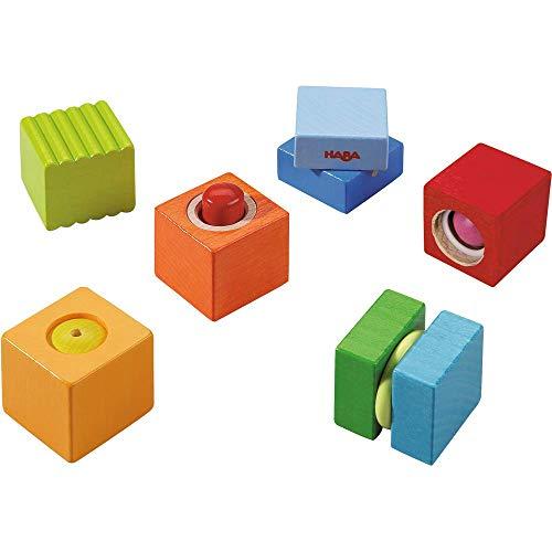 Haba 7628 - Entdeckersteine Klangspaß, robustes Holzspielzeug und Lernspiel ab 1 Jahr, 6 farbenfrohe...