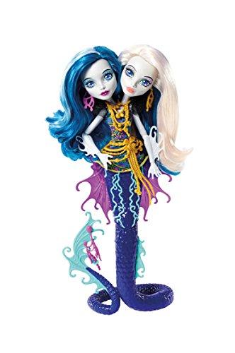 Monster High Mattel DHB47 - Modepuppen, Das Große Schreckensriff, Peri und Pearl Serpentine