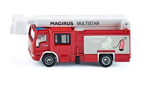 siku 1749, Magirus Multistar TLF mit Teleskopmast Feuerwehrauto, 1:87, Metall/Kunststoff, Rot/Weiß,...