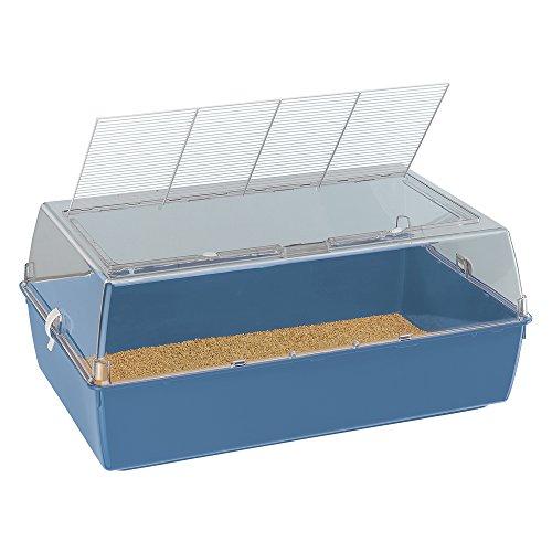Ferplast 57028599W2 Hamster- und Mäuseheim Duna Multy, Maße: 71 x 46 x 31,5 cm, blau