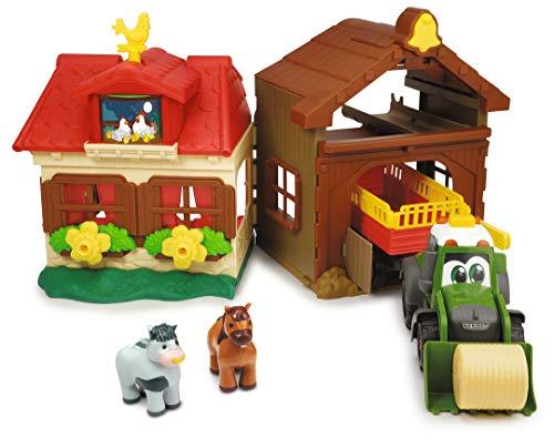 Dickie Toys 203818000 Happy Farm House, Abenteuer auf dem Bauernhof, Set für Kinder ab 1 Jahr, Traktor,...