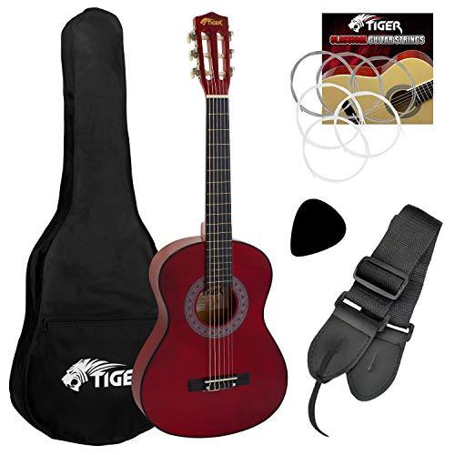 Tiger Music CLG4-RD Klassikgitarre 3/4, Rot