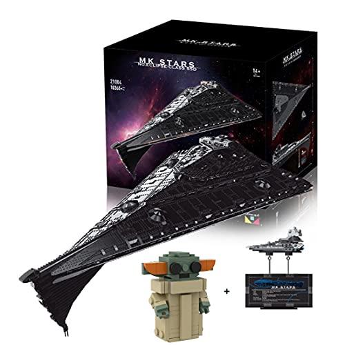 KEAYO Technik Sternenzerstörer Modell, Mould King 21004, 10368 Teile Groß UCS Super Star Destroyer MOC...