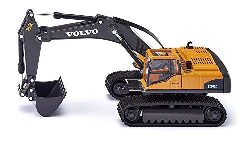 SIKU 3535, Volvo Hydraulikbagger, 1:50, Metall/Kunststoff, Gelb, Funktionsfähiger Baggerarm