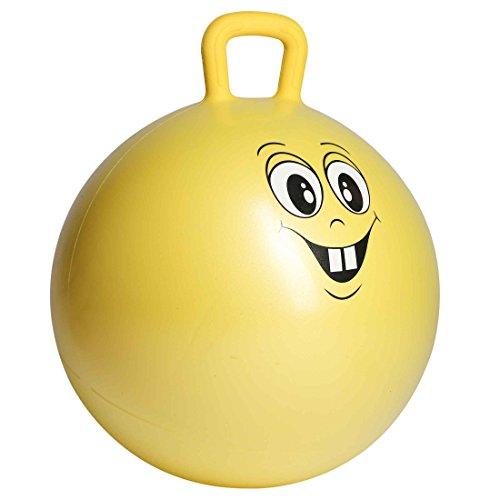 Ultrasport Hüpfball, robuster Springball für Kinder ab 3 Jahren, mit Haltegriff und witzigem Gesicht...