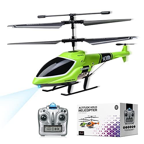 MKZDGM RC Hubschrauber mit Gyroskop und 2.4G LED Lichtern, 3,5 Kanal Feste Höhe Hubschrauber EIN-Taste...