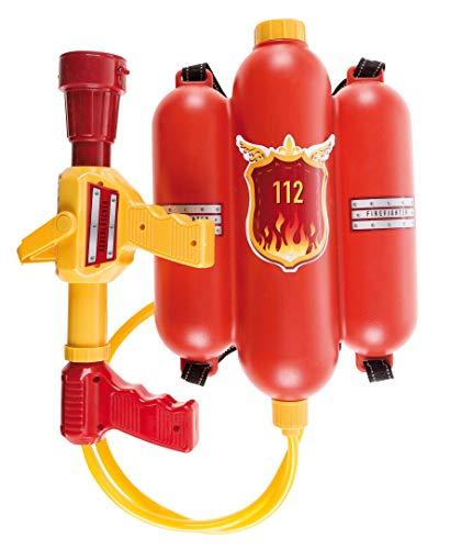 Idena 8040009 - Feuerwehr Wasserspritze, Größe ca. 40 cm, mit verstellbarer Düse, Wassertank und...