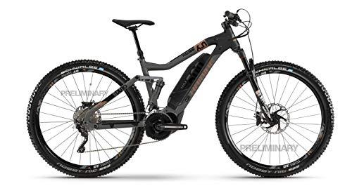 HAIBIKE SDURO FullNine 6.0 Yamaha Elektro Bike 2020 (XL/52cm, Titan/Schwarz/Bronze)