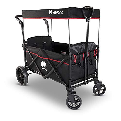 Bollerwagen SmartCruiser von elvent®: faltbares Premium-Modell für 2 Kinder
