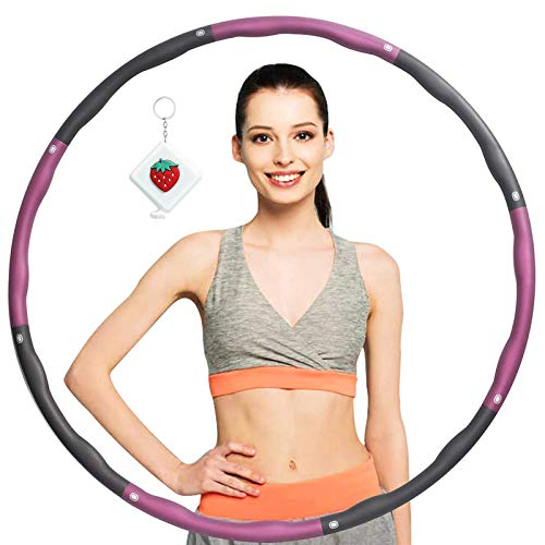 KOVEBBLE Hula Reifen Hoop Erwachsene, Hula Fitness Reifen 1.2kg, Gewichteter Fitness Hoop Kinder, 8...