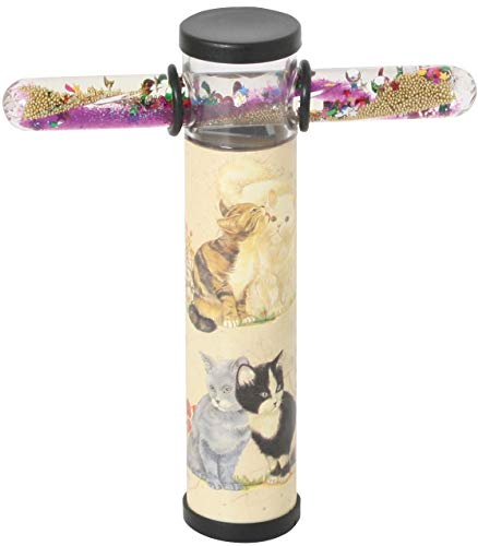 Kaleidoskop mit Zauberstab Katzen/Schmetterlinge
