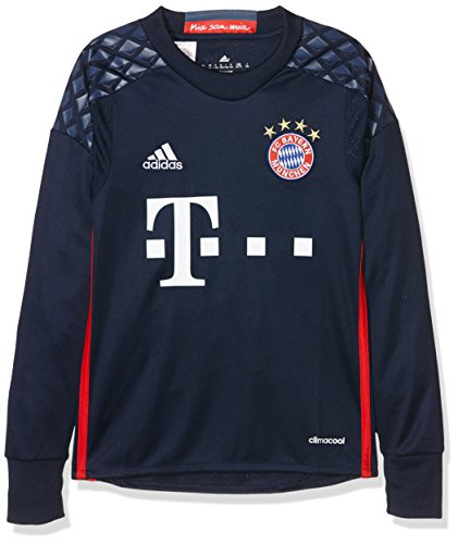 adidas Jungen Torwart/Heim-Trikot FC Bayern München Replica heimtrikot, Night Indigo/Red/Night Marine,...