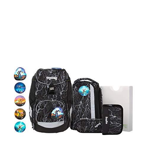 Ergobag Pack Super ReflektBär Glow, ergonomischer Schulrucksack, Set 6-teilig, 20 Liter, 1.100 g,...