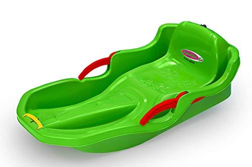 JAMARA 460540 - Snow Play Bob Comfort 80 cm mit Bremse - Lenken durch Bremshebel, aerodynamische...