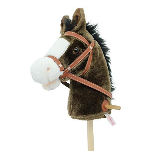"""Sweety Toys 5055 Steckenpferd """" My Little Pony"""" Chocolate, super süss, mit Funktion Gewieher und..."""