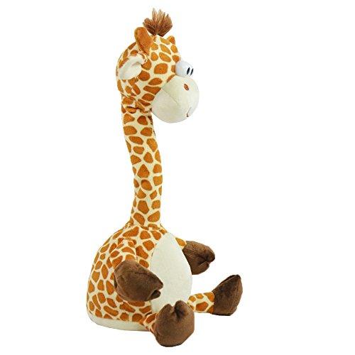 Kögler 76500 - Labertier Giraffe Gertrud, ca. 30 cm groß, nachsprechendes Plüschtier mit Aufnahme- und...