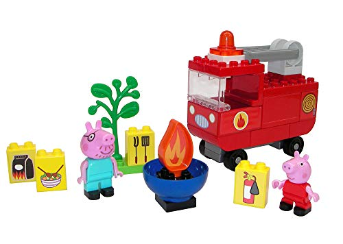 BIG-Bloxx Peppa Pig Feuerwehrauto - Peppa´s Feuerwehr, Construction Set, BIG-Bloxx Set inklusive Peppa...