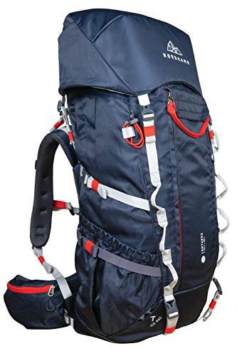 NORDKAMM – Backpacker Rucksack, Trekking-Rucksack, 50l - 60l, blau, Damen u. Herren, Reiserucksack,...