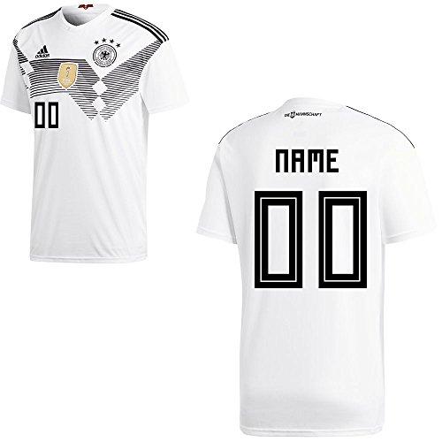 adidas DFB Deutschland Fußball Trikot Home Heimtrikot WM 2018 Herren Kinder mit Spieler Name Farbe Ihr...