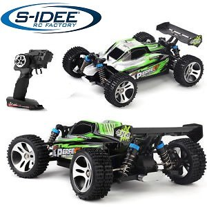 s-idee® 18130 A959-A RC Auto Buggy Monstertruck 1:18 mit 2,4 GHz 35 km/h schnell, wendig, voll digital...