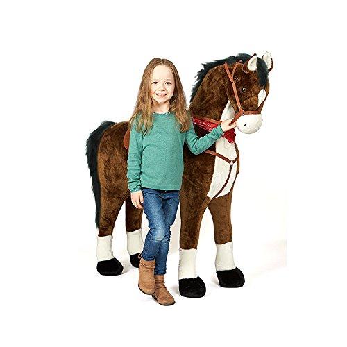 Pink Papaya Giant Riesen XXL Kinderpferd, Herkules, 125 cm Plüsch-Pferd zum reiten, fast lebensgroßes...