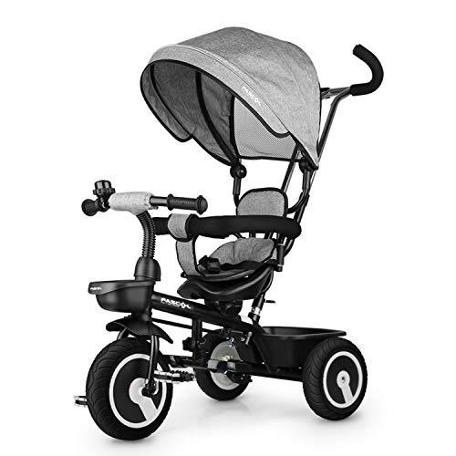Fascol Dreirad 6 in 1 Kinderdreirad Kinder Fahrrad Baby Kleinkinder mit Lenkbarer Schubstange, mit...