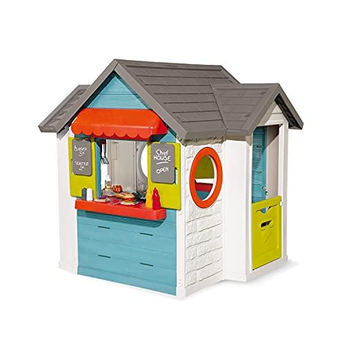 Smoby 810403 – Chef Haus - Multifunktionshaus für Kinder für drinnen und draußen, Restaurant,...
